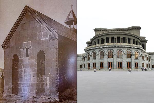 Картинки по запросу В Ереване была разрушена Гефсиманская часовня и на ее месте появилось здание Оперы.